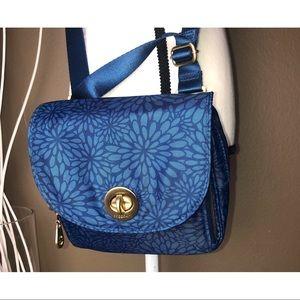 BAGGALLINI | Blue Nylon Floral Print Crossbody Bag